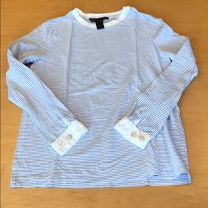 Marc by Marc Jacobs Women Lg Sleeved White/Blue M